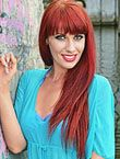 Photo of beautiful  woman Olga with red hair and grey eyes - 18158